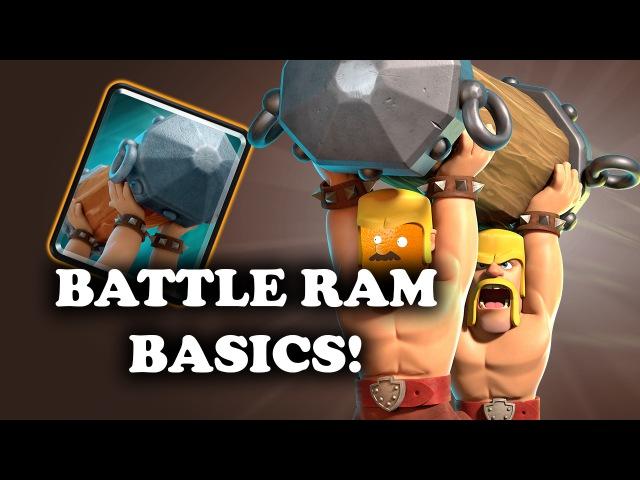 Intro to Battle Ram | Basic Interactions UsingCountering | Clash Royale