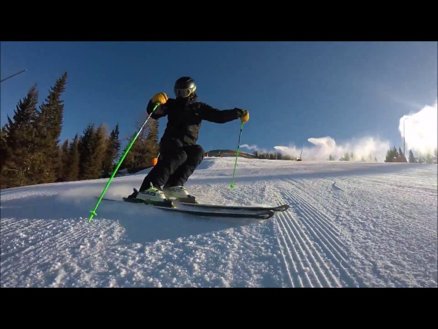 Skiing short turns exercise step by step