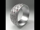 кольцо с ромбиками