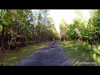 Wilderness fun - anal masturbation in a park wood forest sucking oral blowjob public sex