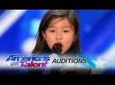 Celine Tam 9-Year-Old Stuns Crowd with My Heart Will Go On - Americas Got Talent 2017