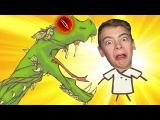 Игра мультик для детей рисуем StickMan EPIK 2 Гигантская змея атакует