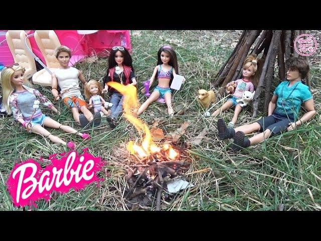 Мультик Барби на пикнике Челси, Кен и Ракель Истории с куклами для детей ♥ Barbie Orig...