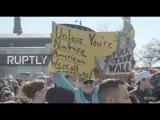 США Тысячи протестуют иммиграции репрессий шерифа в Милуоки.