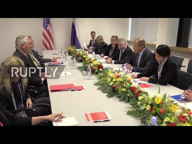 Германия: Лавров встретился с Государственным Секретарем США Тиллерсон на полях Г20.