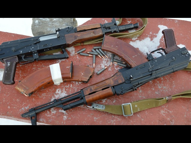 Закос под АКС и АКСУ (огражданенные АКМ). Обзор и стрельбы. МА-АК и МА-АК 03.