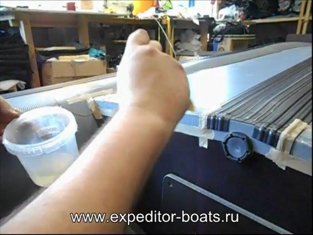 15. Как усилить надувную лодку по низу баллона, килю и транцу