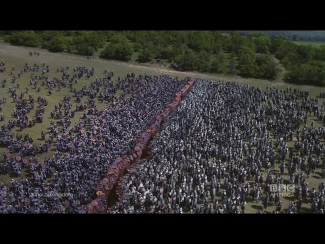The final battle among vikings and saxons The Last Kingdom
