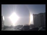 Что творится с Солнцем !!!Эффект Гало а может быть купол или голопроекция!!