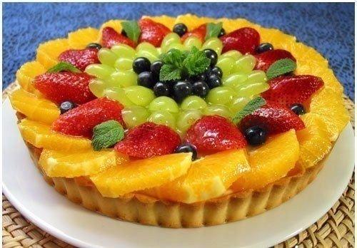 Рецепт пирога с фруктами в желе рецепт с