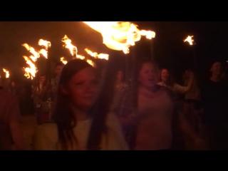 Факельное шествие на карнавале в Алуште