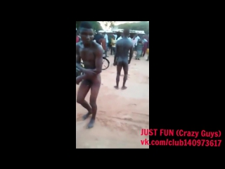 Punishment for robbers savage africa nigeria embarrassing член хуй голый naked nude cock penis public