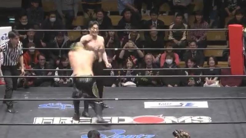 Chikara, Kenichiro Arai vs. KAZMA SAKAMOTO, Yuya Susumu (FREEDOMS - The Gekokujo 2017)