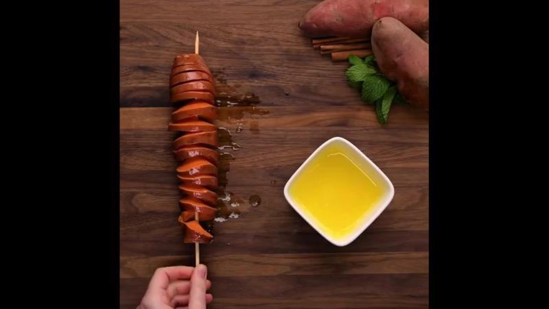 Спираль из картошки