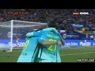 Гол Месси. Атлетико Мадрид 0-2 Барселона. Кубок короля