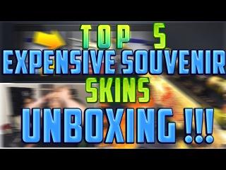 TOP 5 EXPENSIVE SOUVENIR SKINS UNBOXING ! (CS:GO)