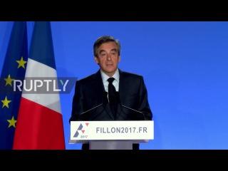 Франция: Фийон говорит, что он не будет «уйти в отставку» или «выходить в отставку» из президентской гонки.