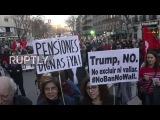 Испания Марш Достоинстве анти-строгость демо привлекает тысячи в Мадриде.