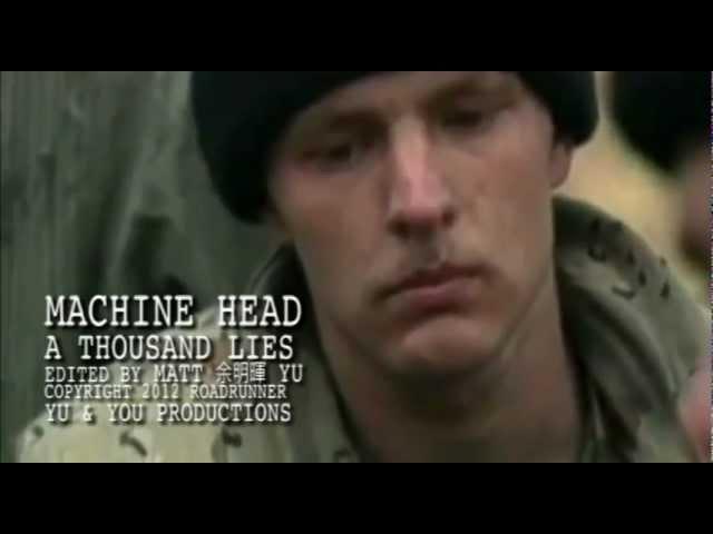 MACHINE HEAD - A Thousand Lies - fan made Music Video featuring Dimebag Darrell