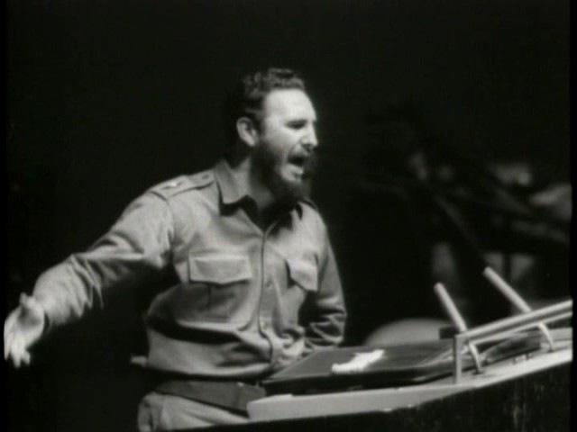 Выступления Фиделя Кастро в ООН архив кинохроники