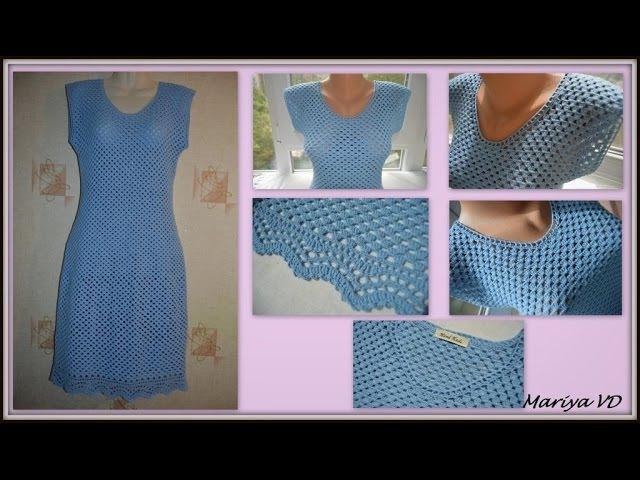 Мои работы. Летнее, легкое, простое, женственное платье крючком. Mariya VD.