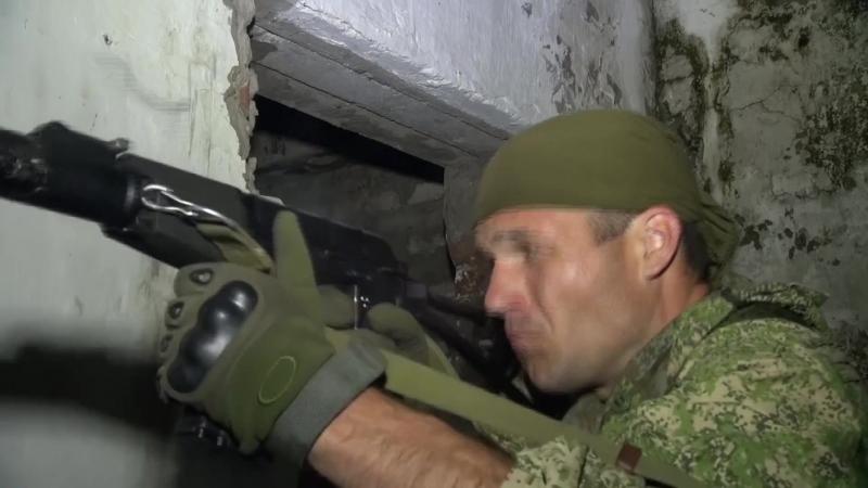 Тактико-специальное учение с разведподразделениями ВВО по стрельбе из бесшумного