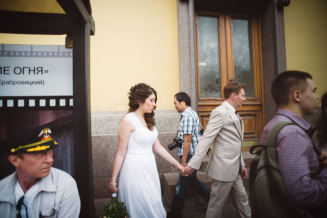 Свадьба в городе на Неве
