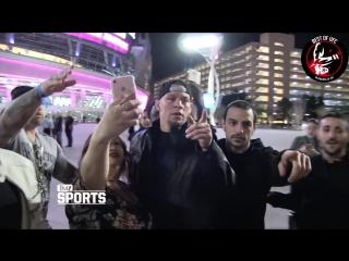 Нейт Диаз послал фанатов Хабиба Нурмагомедова.