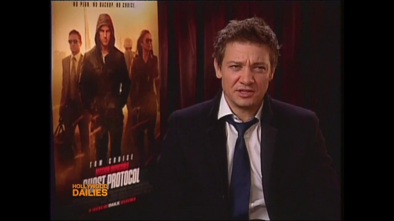 Hollywood Dailies - Jeremy Renner on Mission Impossible 4 and The Avengers