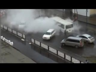 Гидроудар от прорваной трубы с горячей водой