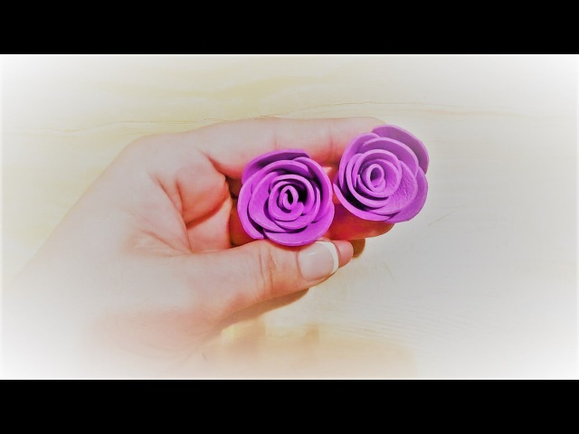 Маленькие розы из фоама легкий способ мк по запросу ✔ Marine DIY Guloyan✔