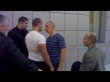Russian fight over a broken bottle of vodka