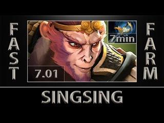 SingSing MK Fast Farm ► 7min Echo Sabre ► Dota 2 [7.01]