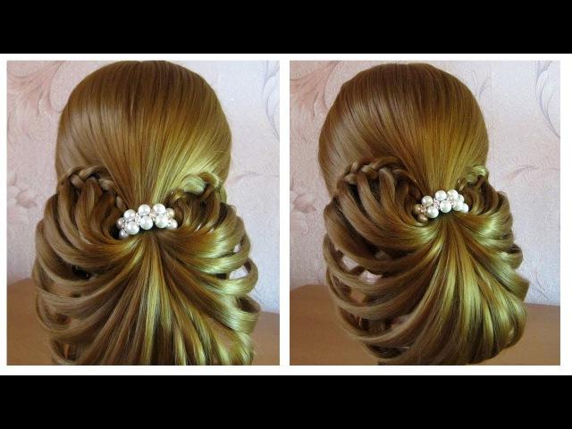 ⭐︎ Сoiffure soirée/mariage facile à faire soi même, cheveux mi long ⭐︎ simple et rapide