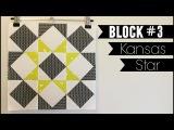 Star Sampler Quilt  Block #3 Kansas Star