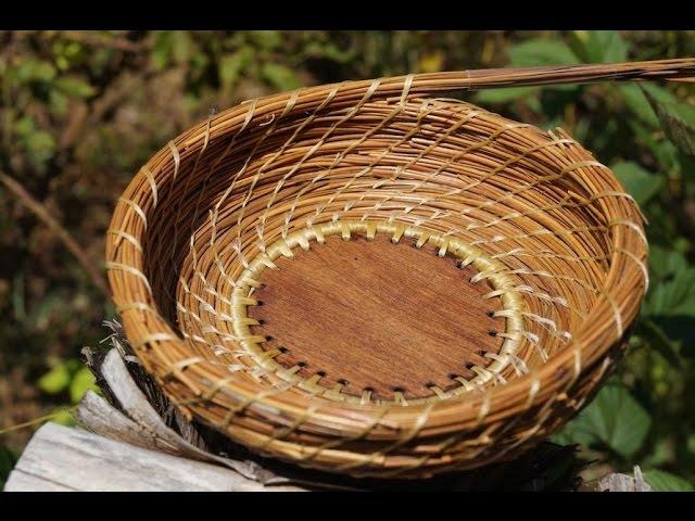 Spiral Stitch Pine Needle Basket