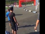 Мужской масс-старт на ЛЧГ в Оберхофе с Сабриной Буххольц и Свеном Фишером (сентябрь 2016)