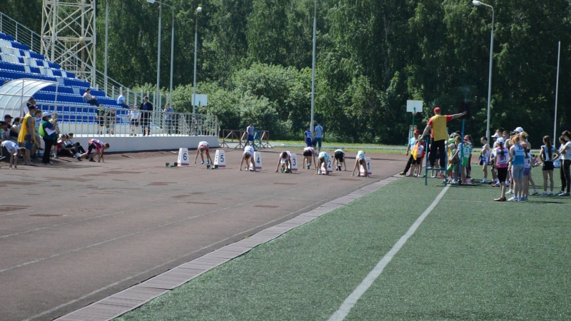Марина Филинкова на дистанции 60 м.