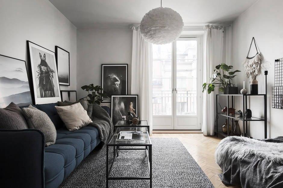Интерьер квартиры-студии 26,5 м в Стокгольме.