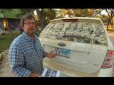 Scott Wade рисует картины на пыльных машинах