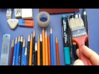 Курс академического рисунка. Урок 1. Инструменты и материалы
