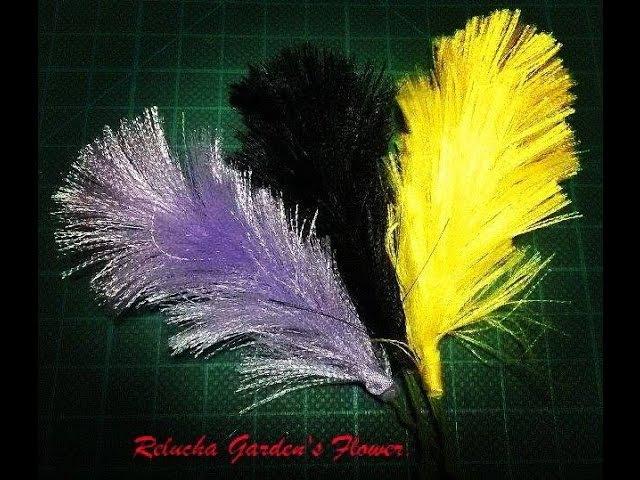 94 - Pluma de Cetim Fácil - Easy Feather satin - DIY.