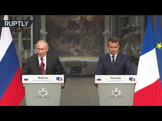 «Боритесь за отмену всех ограничений»: Путин — по итогам переговоров с Макроном