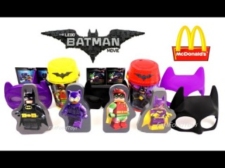 McDONALD'S THE LEGO BATMAN MOVIE HAPPY MEAL TOYS 2017 FULL SET 8 KIDS MEAL TOY COLLECTION US ASIA HK