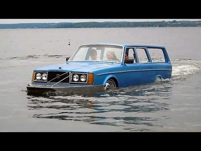 Amphibious Volvo Evolvo - Maiden Voyage   THEONOMICS