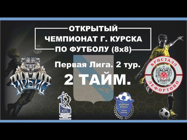 Открытый Чемпионат г.Курска 8x8. Первая лига. 2 тур. Кристалл-В-Ирбис. 2 тайм