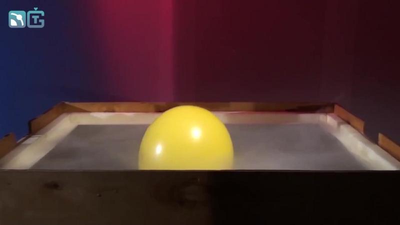 Шарик в криогене (-170°C)