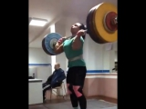 Svetlana Podobedova Clean&Jerk 155 Slow motion