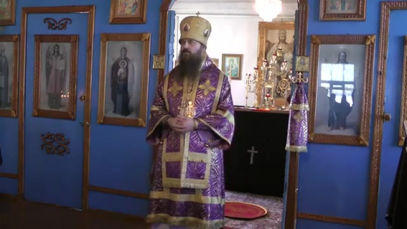 Проповедь епископа Силуана в Лазареву субботу. г. Колпашево 27.04.2013