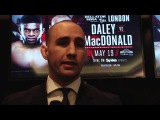 Rory MacDonald 'I might take Daley to the ground and beat him up there'
